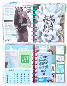 Amanda Rose Zampelli memory keeping 2016 // February Fitness reflection page in my Happy Planner™ Fitness Planner by me & my BIG ideas Planner Tips, Planner Supplies, Planner Pages, Life Planner, Printable Planner, Planner Stickers, Filofax, Fitness Happy Planner, Health Planner