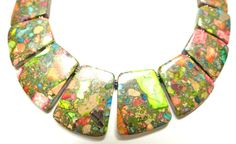 The Martinique Multi Color Jasper Statement by danaleblancdesigns, $78.00
