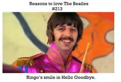 """Reason to love the Beatles- Ringo's smile in """"Hello, Goodbye"""" at the end of """"Magical Mystery Tour"""". Liverpool, Beatles Love, Beatles Funny, The Quarrymen, Richard Starkey, All My Loving, British Invasion, Lonely Heart, The Fab Four"""
