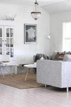 The Design Chaser: Norwegian Blogs | Living Room Inspiration Couch color