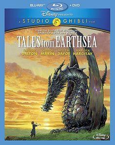"""An epic animated adventure directed by Goro Miyazaki, Tales From Earthsea Features the voices of Timothy Dalton, Willem Dafoe, Cheech Marin and Mariska Hargita All Disney Movies, All Movies, Movie Tv, Movie Club, Fantasy Series, Fantasy Books, Anime Art Books, Disney Blu Ray, Walt Disney"