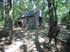 Henry David Thoreau's Woodland Hut This hut at Walden Pond, Massachusetts, was not so much a refuge for Henry David Thoreau as an inspiration. Thoreau built the hut himself before living in it for two years in order to think about, and write, his philosophical book, Walden. IMAGE: Flickr.com/jthetzel
