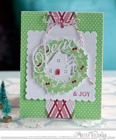 Peace & Joy Card by Betsy Veldman for Papertrey Ink (October 2015)
