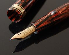 Waterman Ink-Vue DeLuxe in Copper Ray celluloid, circa 1936.