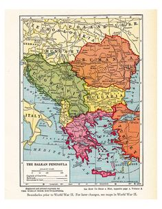 I have a love affair with antique maps, and I've been building up a collection of hundreds over the years, many of which I sell in my Etsy shop ArtDeco. I've seen all sorts of creative … Vintage Maps, Antique Maps, Romania Map, Bulgaria, Ancient Egyptian Art, Ancient Aliens, Ancient Greece, Old Maps, European History