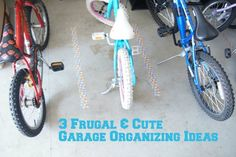 garage organizing for bikes