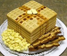 Waffle cake sweets dessert treat recipe chocolate marshmallow party munchies yummy cute pretty unique creative food porn cookies cakes brownies I want in my belly ♥ ♥ ♥