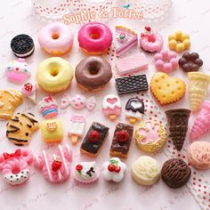 Decoden Sweets Deco Resin Kawaii Cabochon Assortment Assorted Pack Sophie & Toffee Sweets Starter Pack (20pcs).