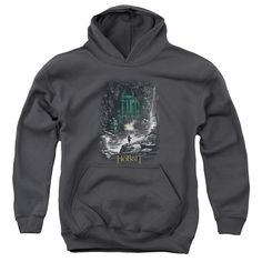 HOBBIT/SECOND THOUGHTS-YOUTH PULL-OVER HOODIE - CHARCOAL -