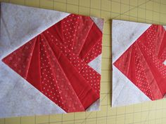 This is a paper pieced heart that could go in a quilt or be used to make placemats etc.