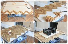 Building Herringbone Chest Drawer Fronts