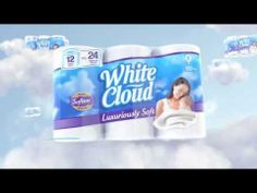 Introducing new White Cloud® Luxuriously Soft Bath Tissue. Mysteriously Made From the Softness of Clouds.