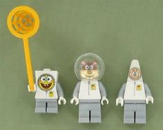 Lego Spongebob Squarepants, Sandy Cheeks, Patrick Star : Spacesuit Set of Three Minifigures By Lego Buy New by LEGO. $34.99. It will come in small plastic bag.