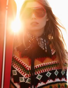 ELLE Editorial: Style Inspiration for the Slopes and the Streets Ski Fashion, Girl Fashion, Womens Fashion, Snow Patrol, Apres Ski, Editorial Fashion, Skiing, Christmas Sweaters, Knitwear