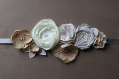Cream Ivory Champagne Maternity or Bridal Sash - Neutral Colors - Dress Sash - Belly Band - Wedding Dress - Nude - Pregnancy  Photo Prop. $33.20, via Etsy.