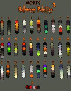 Halloween palettes 3 by Mokisaur