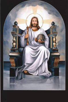 Jesus is The King of Kings Christ The King, King Jesus, Jesus Is Lord, Jesus Mercy, Jesus Help, Pictures Of Jesus Christ, Religious Pictures, Religious Art, Jesus Painting