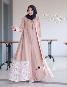 Modern Fashion Lace Open Abaya with Hijab Fashion for Muslim Ladies – Girls Hijab Style & Hijab Fashion Ideas Hijab Gown, Hijab Style Dress, Abaya Fashion, Fashion Dresses, Moslem Fashion, Mode Abaya, Modele Hijab, Muslim Women Fashion, Hijab Fashion Inspiration