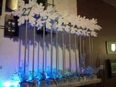 Table numbers for my sister's winter wonderland wedding - for tatianna Garcia who commented, i added description on the other photos.  Sorry it wont let me comment back, but I'll try adding more pix with description
