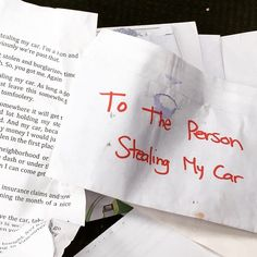 You'd Never Guess What Car Thieves Did After Finding This Epic Note