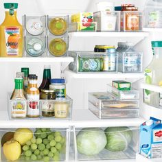 An organized refrigerator!  The French Tangerine: ~ being organized