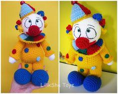 Crochet jouet Amigurumi Pattern - Purimka, un clown drôle.