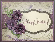 Cricut Flowers Birthday Card