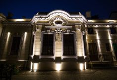 Severeanu Museum. exterior lighting. architectural lighting. Light Architecture, Exterior Lighting, Museum, Mansions, House Styles, Design, Home Decor, Outdoor Deck Lighting, Mansion Houses