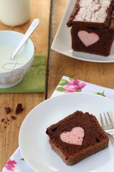 Plum cake al cacao con cuore