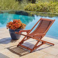 Havenside Home Surfside Relaxer Chaise Lounge (Relaxer Chaise Lounge), Brown(Wood, Solid) Pool Furniture, Furniture Ideas, Teak Oil, Outdoor Chairs, Outdoor Decor, Outdoor Projects, Cool Chairs, Acacia Wood, Brown Wood