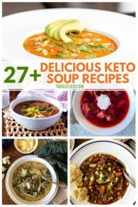 Keto soups are the easiest and most flavorful way to eat on a ketogenic lifestyle. Whether you like brothy keto soups or hearty low carb stews, there is a soup recipe on this list for you. Low Carb Taco Soup, Low Carb Soup Recipes, Keto Soup, Ketogenic Recipes, Keto Recipes, Ketogenic Diet, Dessert Recipes, Sausage And Kale Soup, Italian Sausage Soup