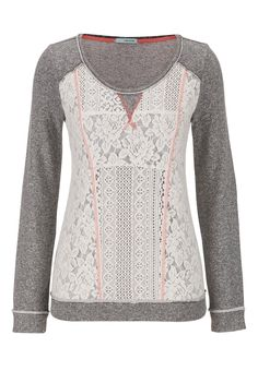 lacy pullover with contrast stitching - maurices.com