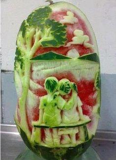 sculptured fruit art - Bing Images