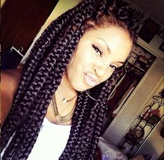 Poetic justice. Box braids. Big braids. Jumbo braids.