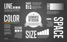High Resolution Free poster. Quick Reference Guide to the building blocks of art, the elements of design.
