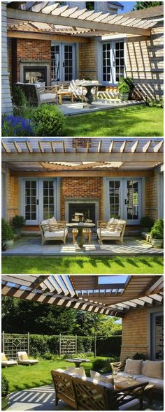 If you are looking for something perfect to add more beauty to your already organized front yard and also have a desire to balance the rays of sunlight for comfortable seating, then you will find nothing best then this pergola design for the patio. Hot Tub Pergola, Pergola Ideas For Patio, Curved Pergola, Small Pergola, Modern Pergola, Pergola Swing, Pergola With Roof, Outdoor Pergola, Covered Pergola