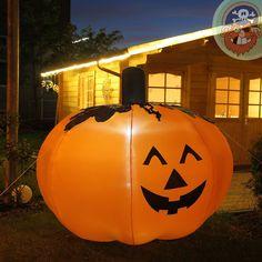 Zucca di Halloween 2.0 m di altezza con luci a LED, gonfiabili per interni ed esterni: Amazon.it: Casa e cucina