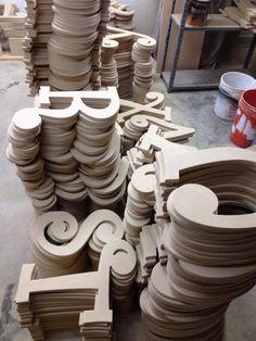 Wooden letters & shapes--website