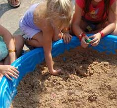 Dinosaur Dig.  Kids dig for eggs with a number in it that corresponds to a prize.
