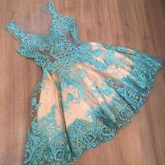 vestido + azul + renda + curto