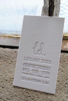 #biz cards // #letterpress
