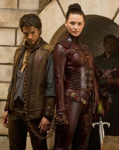 Legend of The Seeker: Bridget as Kahlan  playing as Mord Sith - who wouldn't want a job dragging around Craig Horner in chains??!!