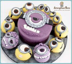 Adorable Minion Cake by Scrumptious Buns