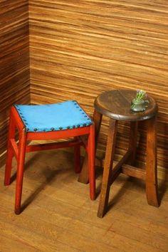 E455【庄内蔵】古い丸椅子スツール2点アンティーク家具置き台 Antique ¥1100円 〆03月20日
