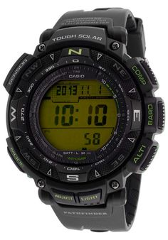 Casio Men's Pathfinder Black Resin Digital Dial - Watch PAG240-1BCR,    #Casio,    #PAG2401BCR,    #WatchesCasualSolar