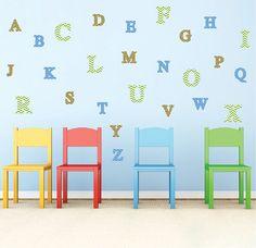 Alphabet Wall Letter Decal Stickers Nursery Mural Letters Kids - Vinyl wall decals alphabet