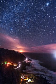 ~~Cape Perpetua ~ starry starry night on the Oregon Coast, Yachats by bobshots~~