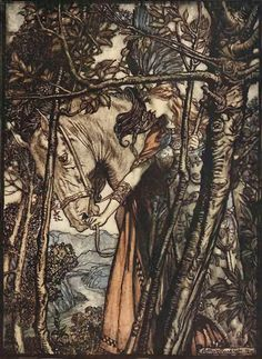 The Rhinegold and The Valkyrie – Arthur Rackham, 1910