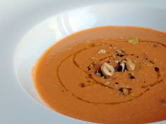 Raw Carrot and Avocado Soup with Toasted Hazelnuts | Terry Lyons