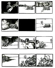 The Grapes of Wrath by John Steinbeck from the Graphic Canon, Volume 3  Belgian artist Liesbeth De Stercke created a spare, aching take on the first part of The Grapes of Wrath by John Steinbeck.